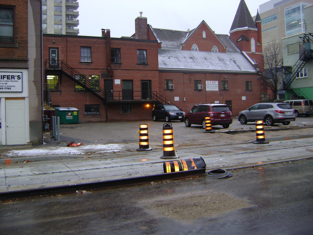 Driveway closest to Queen Street is now open - Nov 22nd