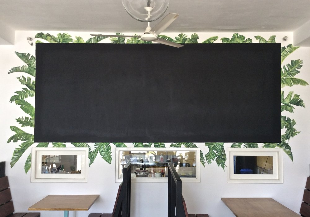 Black Menu Board Edging
