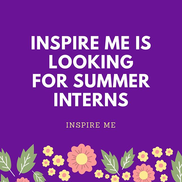 We are super excited about expanding our team and having new people on board. New people bring new ideas, and we love that! 💜🤗 Apply now to intern with us over the summer, learn new skills and get creative! #applynow