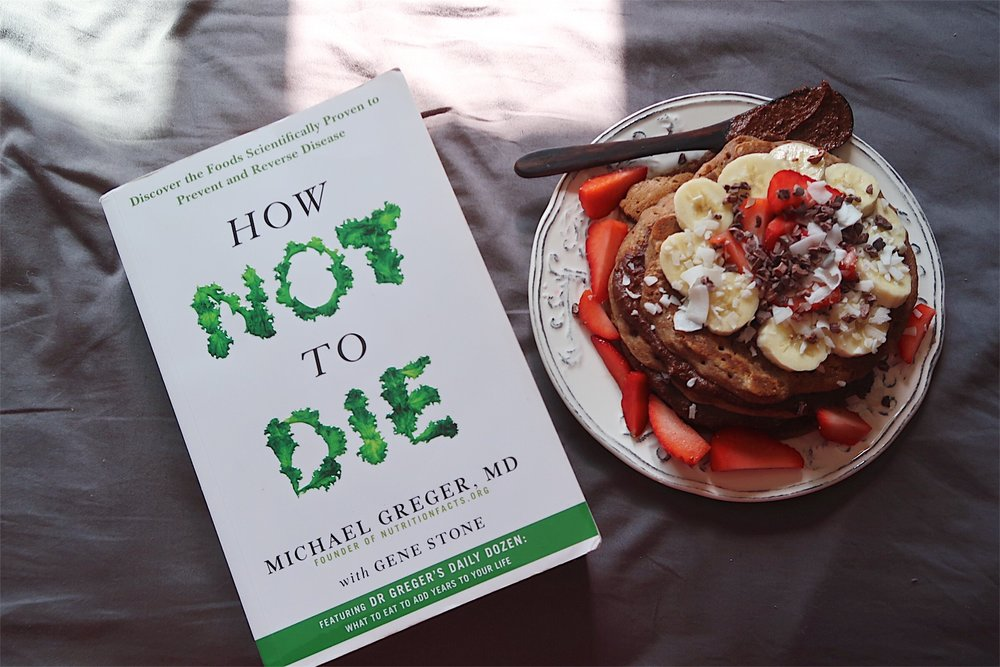 Plant-based pancakes and a good read!