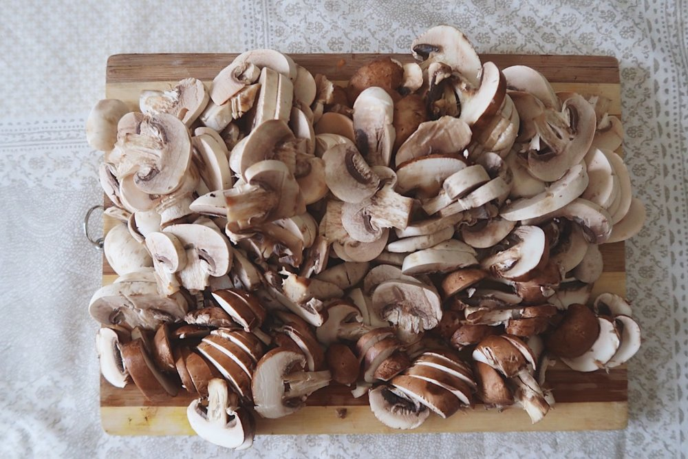Yes, that's A LOT of mushrooms.