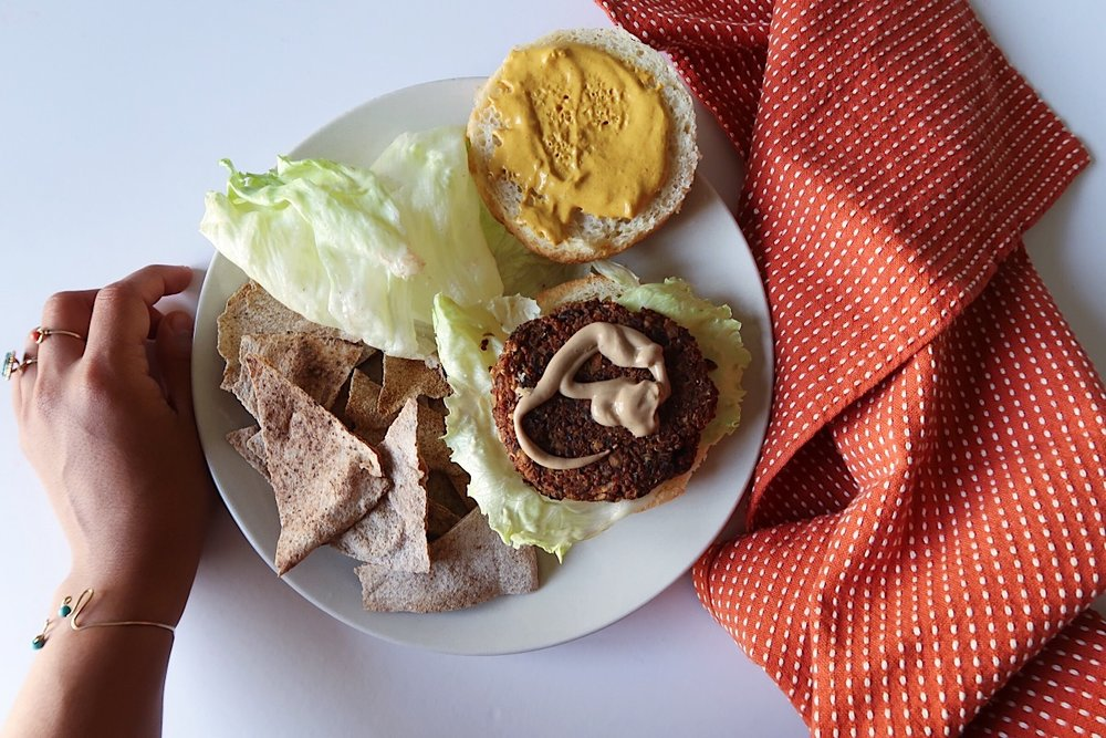 Smoked Vegan Burger -