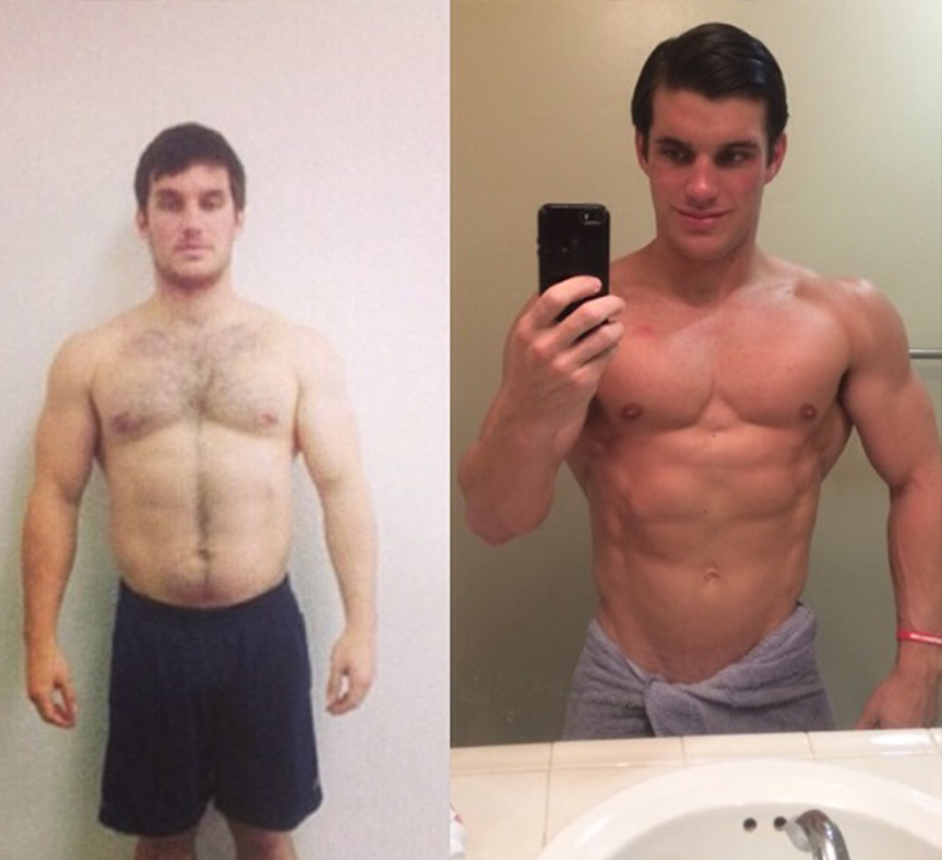 *Mark competed in a men's physique and placed 2nd. His confidence increased and is now a personal trainer himself.