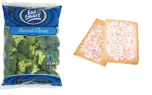 100 calories in the WHOLE bag VS 400 calories in 2 POP-TARTS
