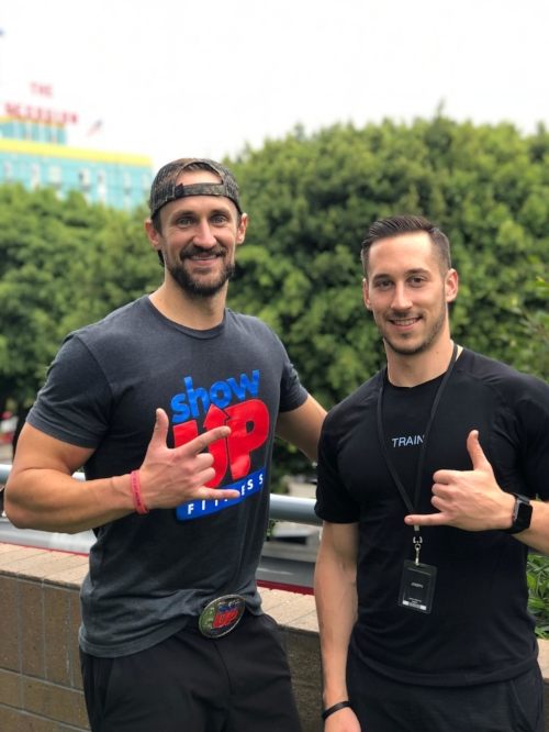 Recent intern hired and training at Equinox Santa Monica. Joe came into the internship wanting to become a trainer at Equinox Santa Monica. Look what we were able to do.