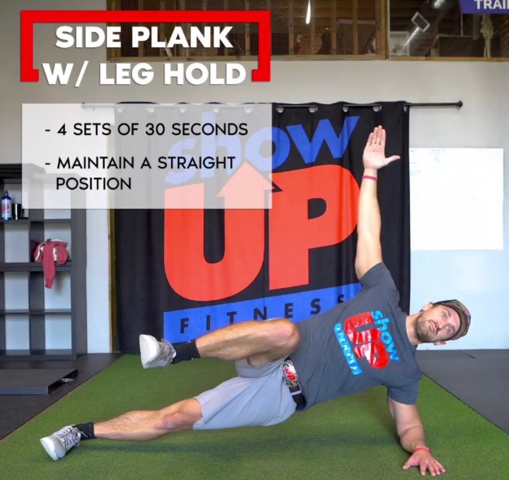 Side & Front planks for 3-5 sets of 30-45 seconds.