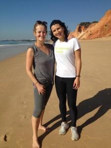 Kate (left) with trainer Patricia Inacio