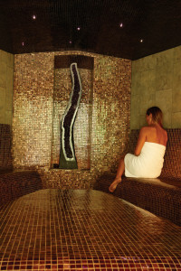 Tension melts away in the oil-infused steam room