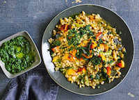 Pumpkin Farro Risotto     Credit: Sainsbury