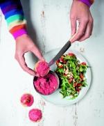 Beetroot Houmous Salad