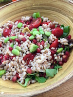 Minted Farro Salad - cooling summer lunch