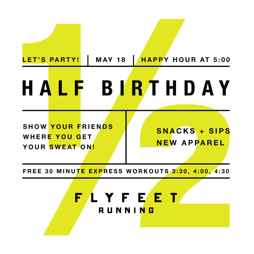 Fly Feet Running - Half Birthday Party