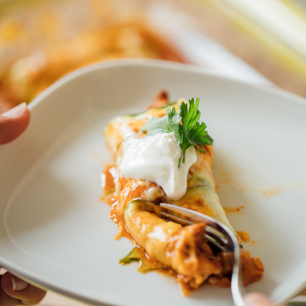 Fly Feet Running - Zucchini Enchiladas