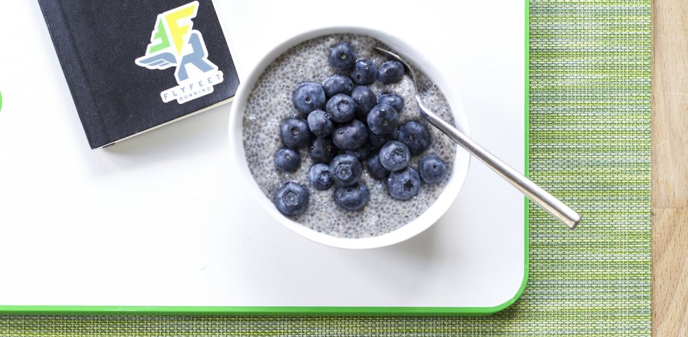 Fly Feet Running: Vanilla-Almond Chia Breakfast Pudding