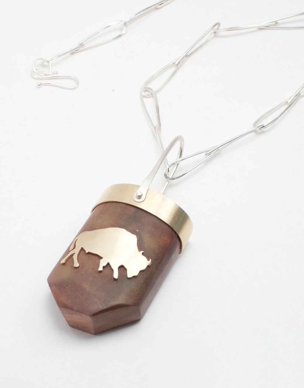 Buffalo Totem Necklace