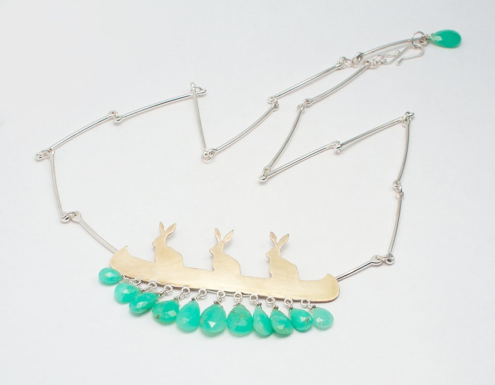 Bunnies in a Canoe + Chrysoprase