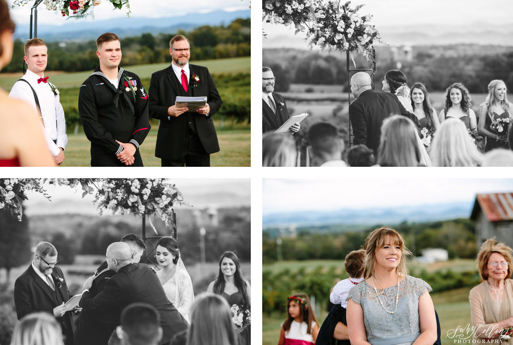 Candid Fall Vineyard Wedding