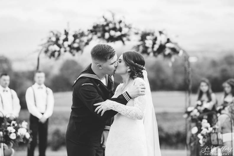 Kiss Fall Vineyard Wedding