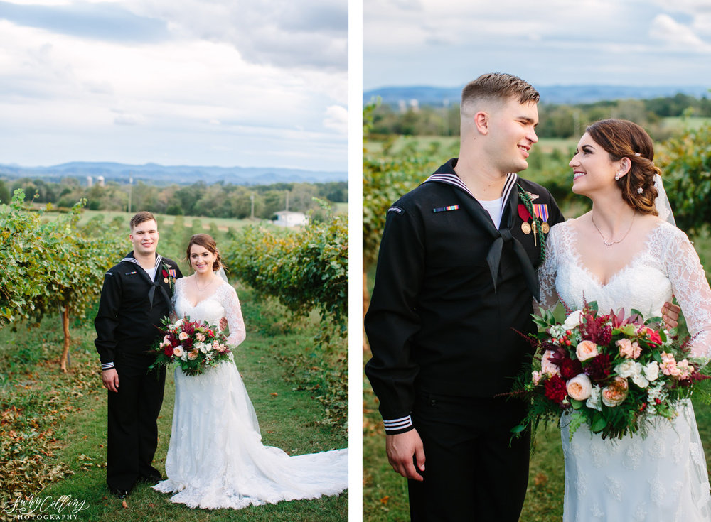 Fall Vineyard Mountain Wedding Portraits