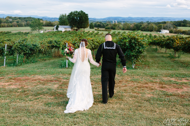 Fall Vineyard Mountain Wedding