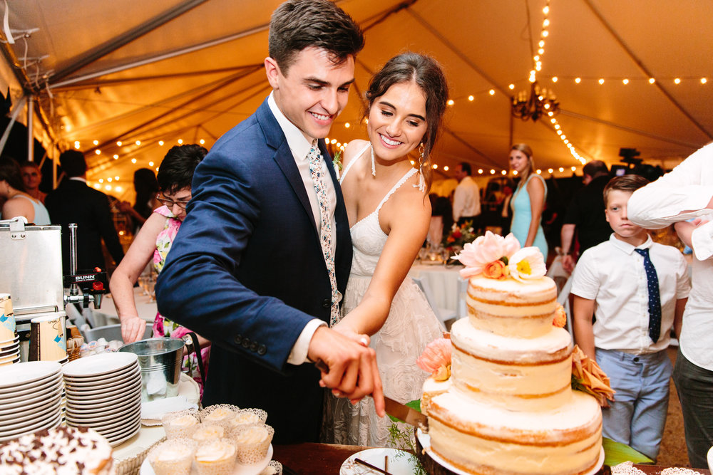 Knoxville Photographer Modern Bohemian Wedding Naked Cake