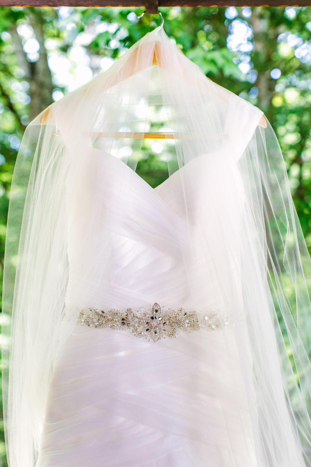 Knoxville Photographer Classic Outdoor Wedding Dress Veil