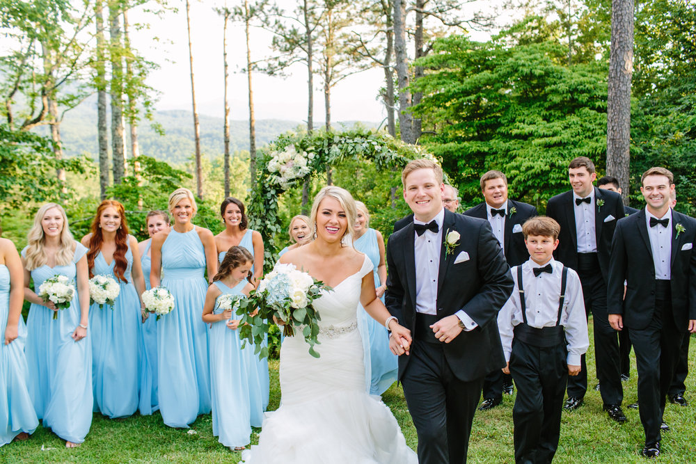 Knoxville Photographer Classic Outdoor Wedding Bridal Party