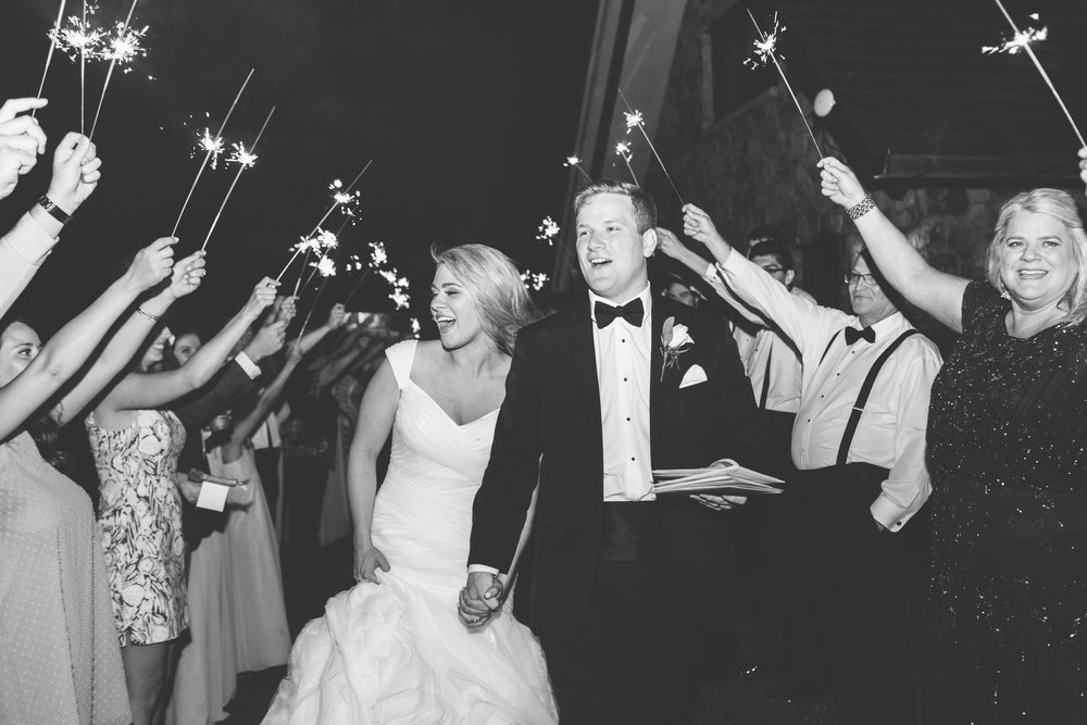 Knoxville Photographer Classic Outdoor Wedding Sparkler Exit