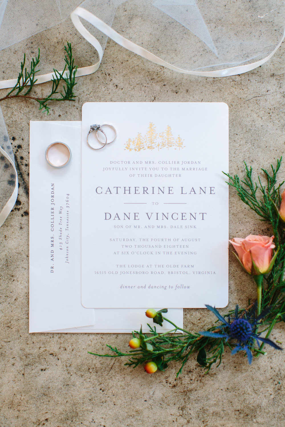 Romantic Pavilion Wedding // Tennessee Photographer // Suzy Collins Photography // The Olde Farm // Invitation Suite