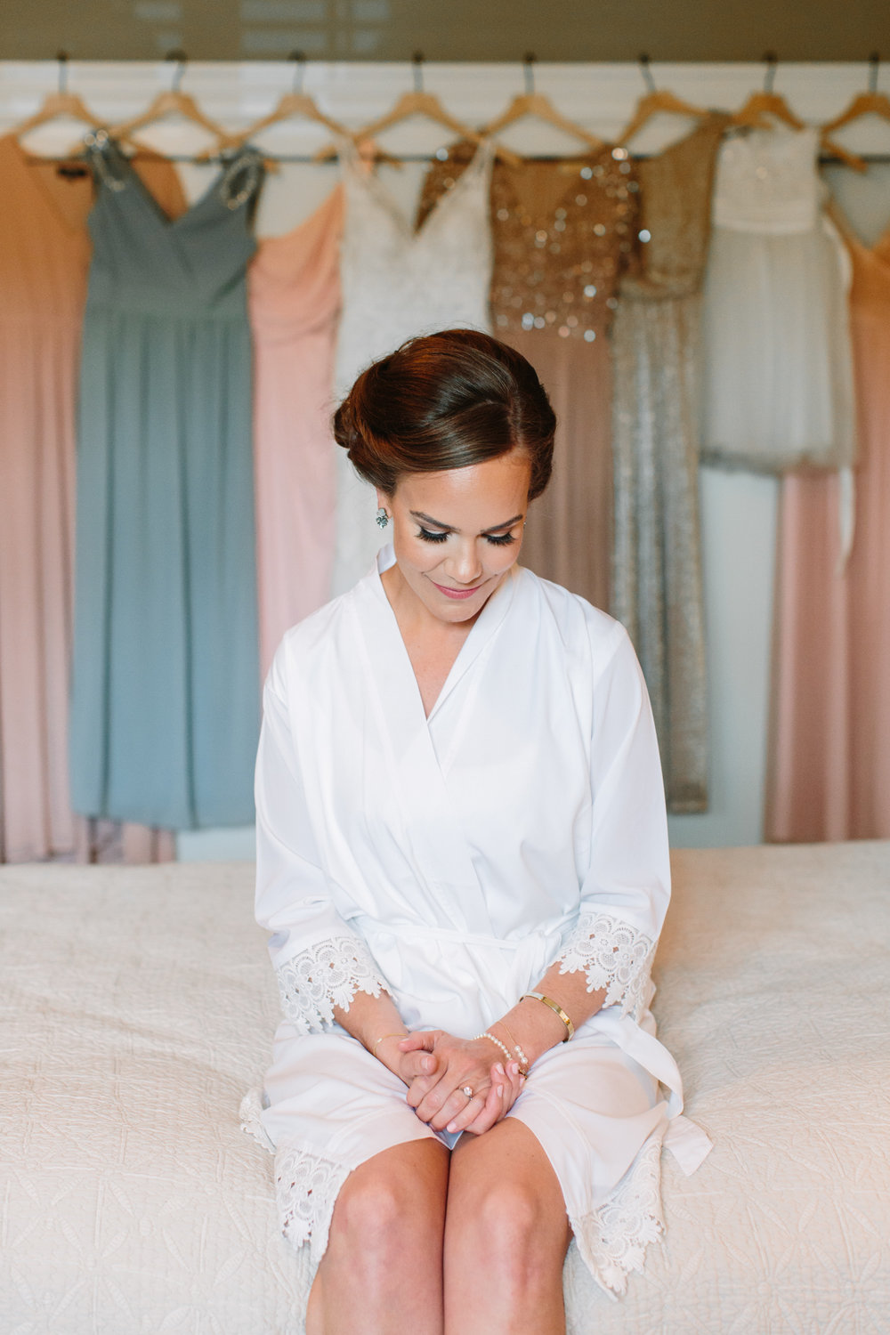 Bride in Robe // Tennessee Photographer // Suzy Collins Photography // The Olde Farm
