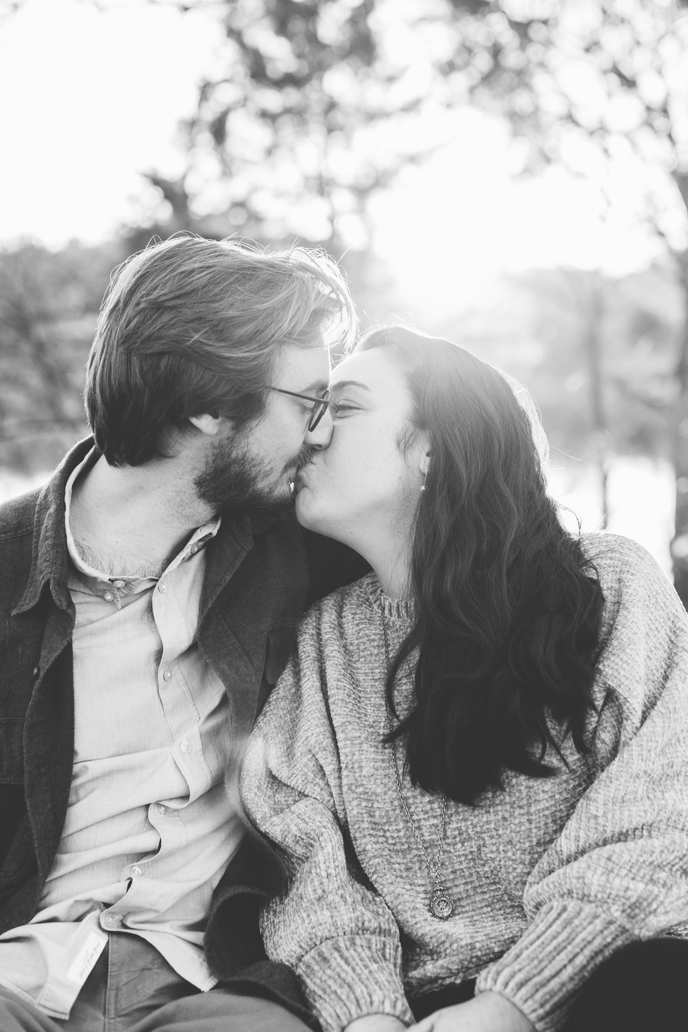 Knoxville Winter Engagement Session on the River // Suzy Collins Photography