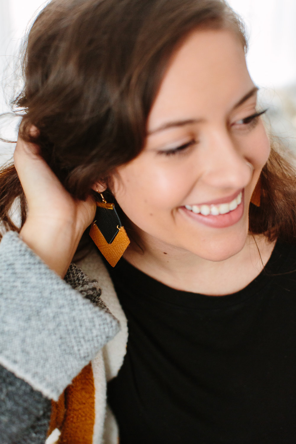 Knoxville Branding Photography by Suzy Collins // Handmade Leather Jewelry // Ivy Lane Jewelry