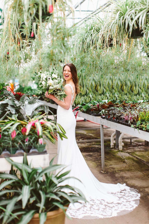 Stanley's Greenhouse Bridal Portraits // Knoxville Portrait Photographer, Suzy Collins