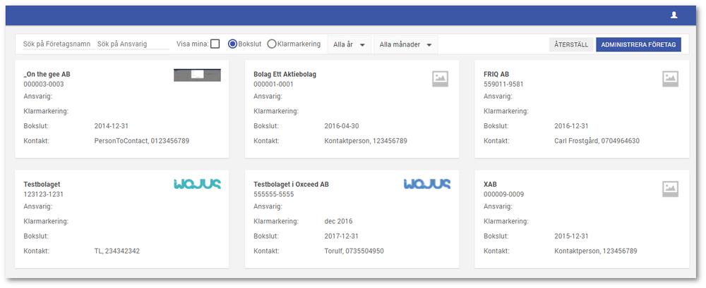 För de som har en byråprenumeration eller koncernprenumeration finns det nu en helt ny sida där man kan överblicka, filtrera och administrera samtliga sina företag.  Detta är det första steget i navigatorn som snart kommer fyllas på med fler funktioner där man t.ex. kan ta ut rapporter och analyser som innehåller flera företag..