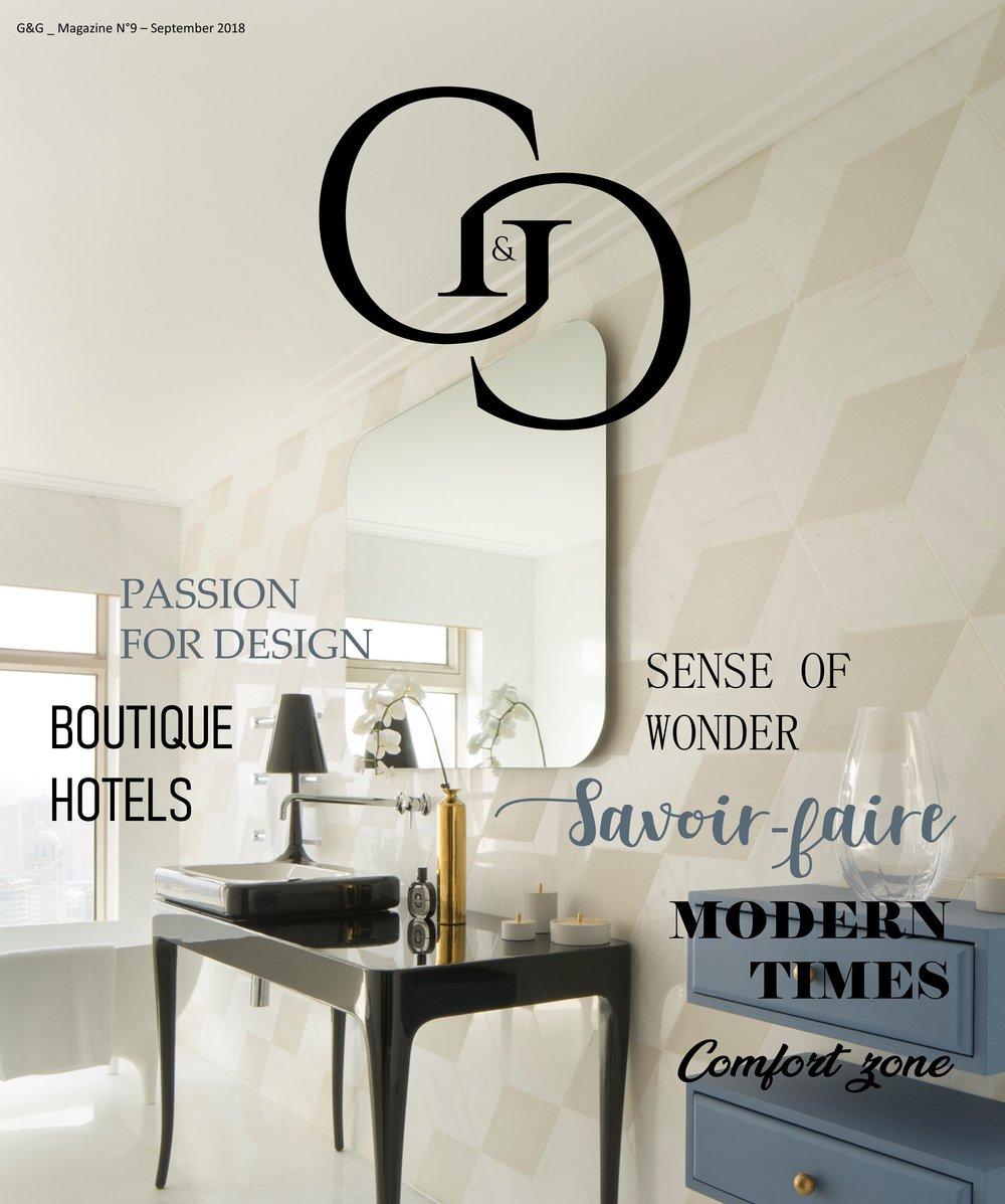 Parution Septembre 2018 - GASTON BIJOUX sélectionné par le Magazine GandG dans les marques à découvrir absolument à Maison&Objet, Septembre 2018.