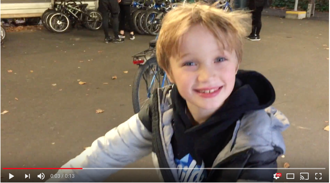 Trumans first day riding a bike