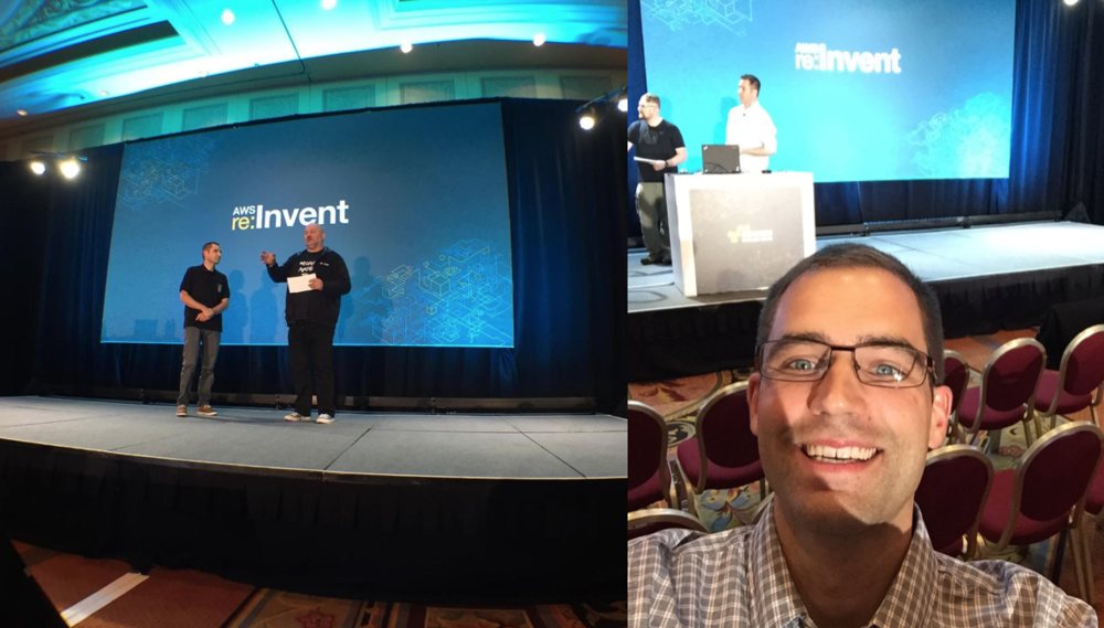 In Vegas! with Amazon CTO on Skype and Bastien in rehearsal
