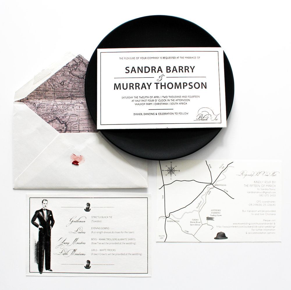 A Silk Safari Story: Sandra & Murray's Wedding Invitations