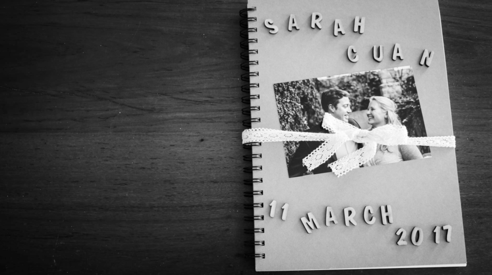 A Scrapbook Story: Sarah & Cuan's Wedding Video Invitation