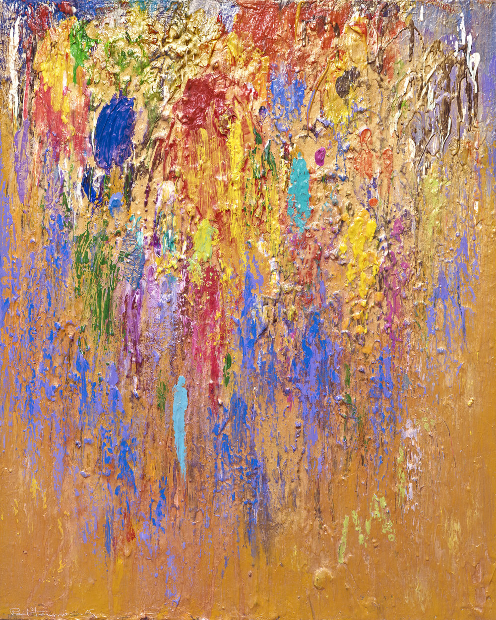 Golden Spring, 2015, 30 x 24 inches, Acrylic on canvas