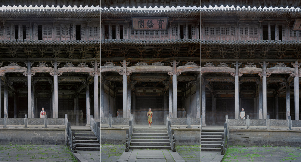AnHui-Bao Lunge No. 3 (Double Rhapsody Series), 2011, 47.2 x 87.4 inches, Chromogenic photograph