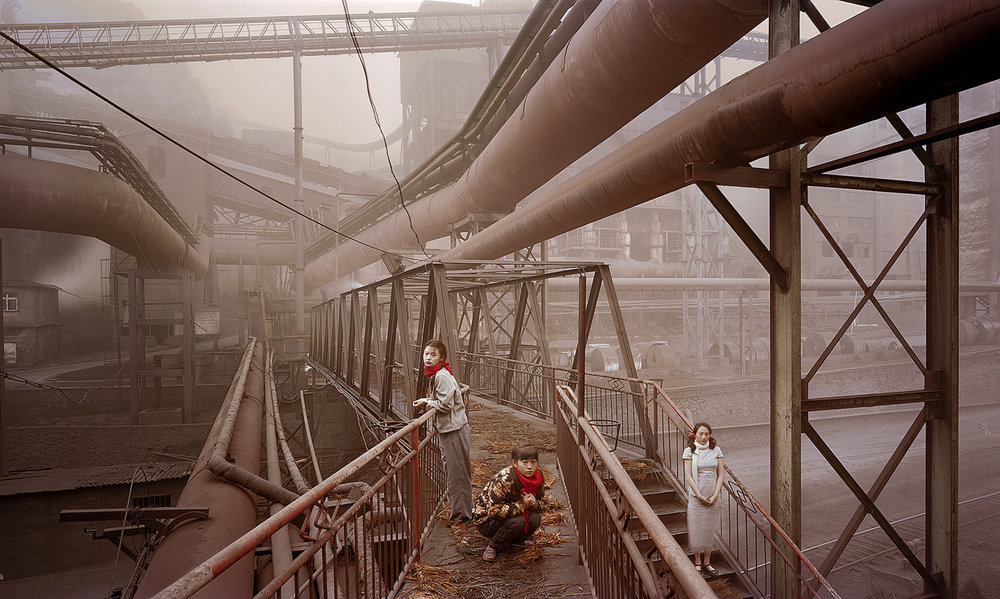 Bridges (The Great Third Front Series), 2008, 43.3 x 70.9 inches, Chromogenic photograph