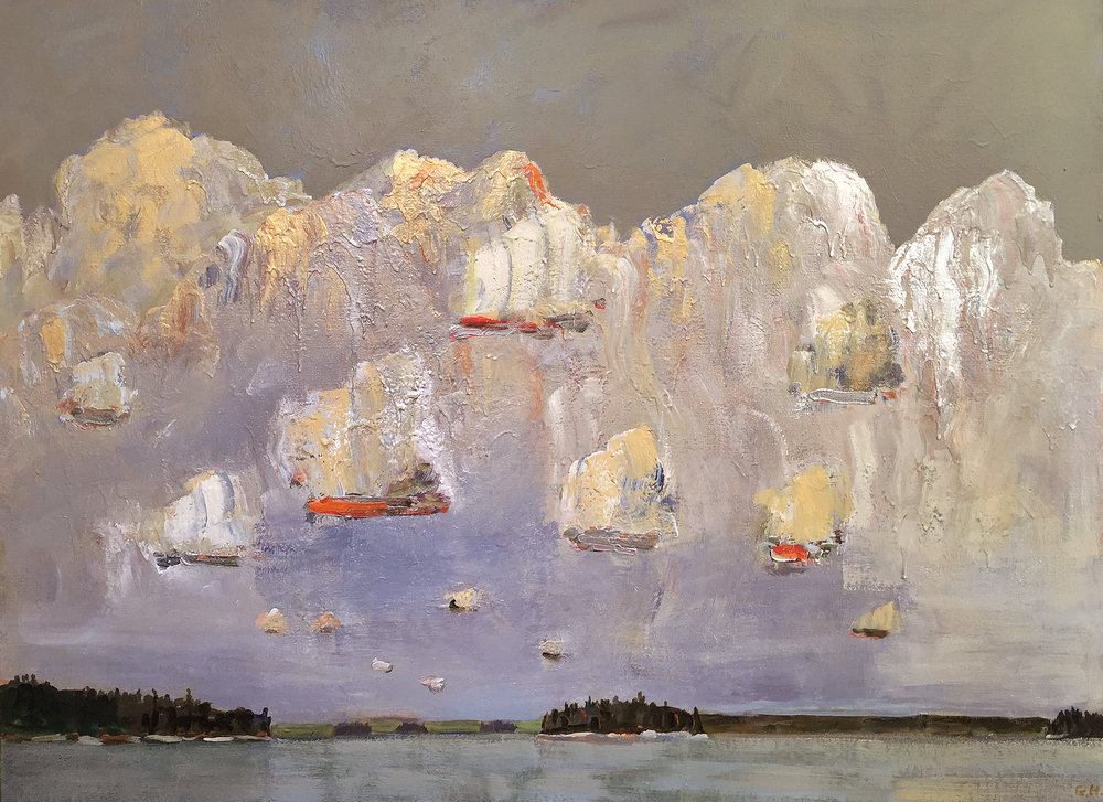 Luminous Sky, La Ronge, 2016, 48 x 66 inches, Acrylic on linen