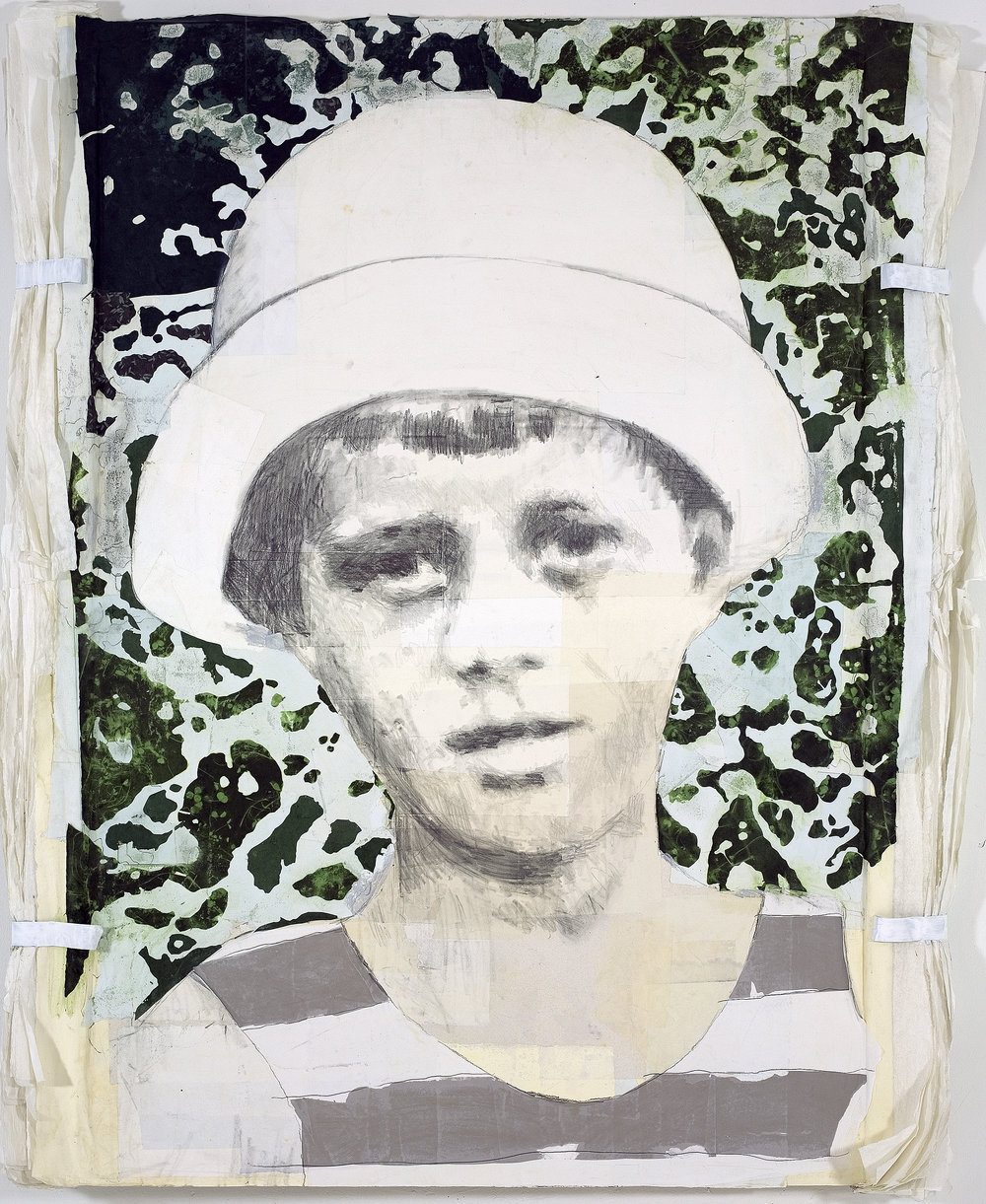 John F. Kennedy, 2008, 72 x 48 inches, Mixed media on board