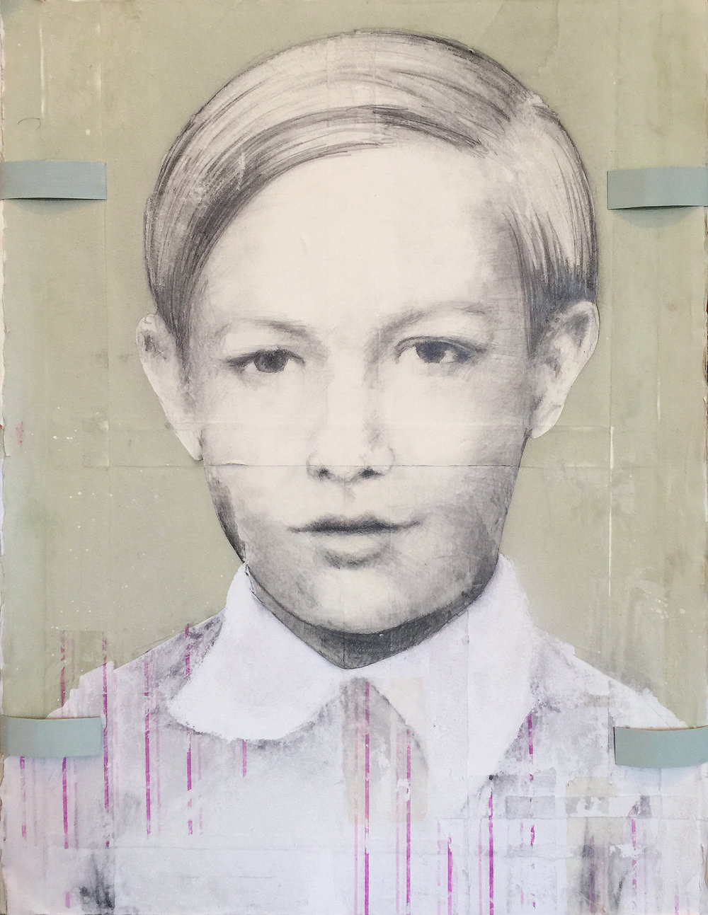 Warhol, 2016, 36 x 24 inches, Mixed media on board