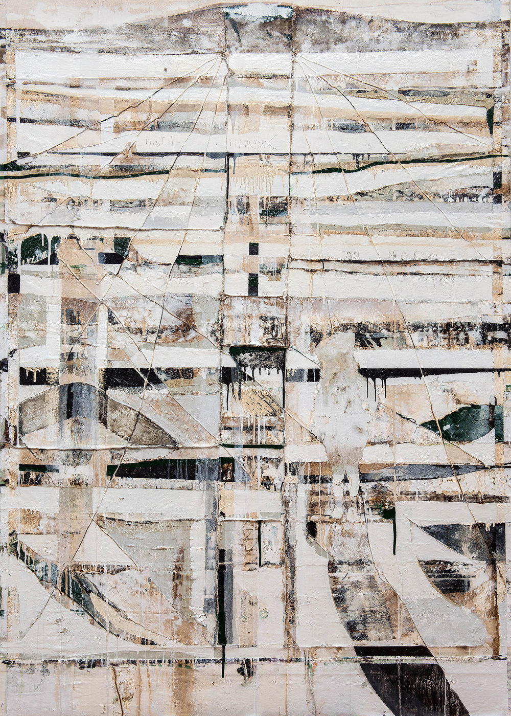 Lucie des Isles, 2014, 60 x 84 inches, Mixed media