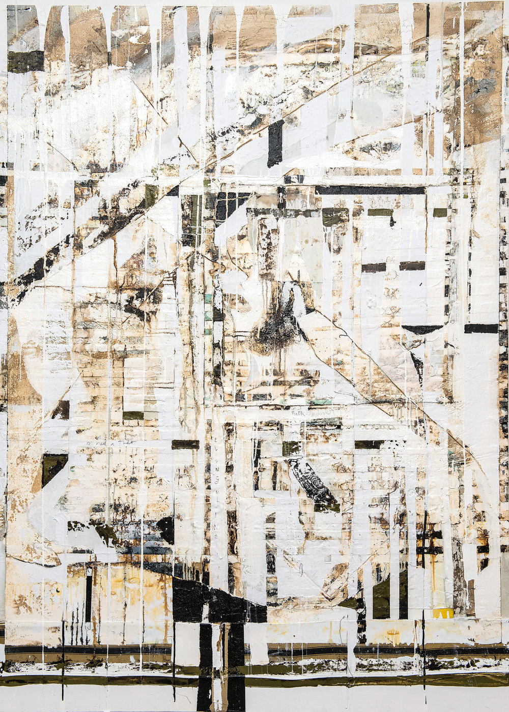 Magda, 2014, 60 x 84 inches, Mixed media