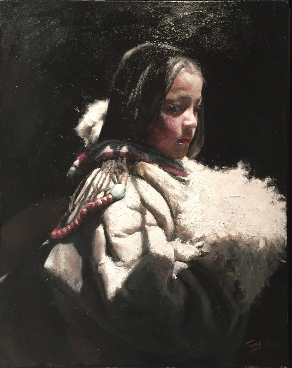 Nobleman's Daughter II, 2015, 28 x 22 inches, Oil on canvas