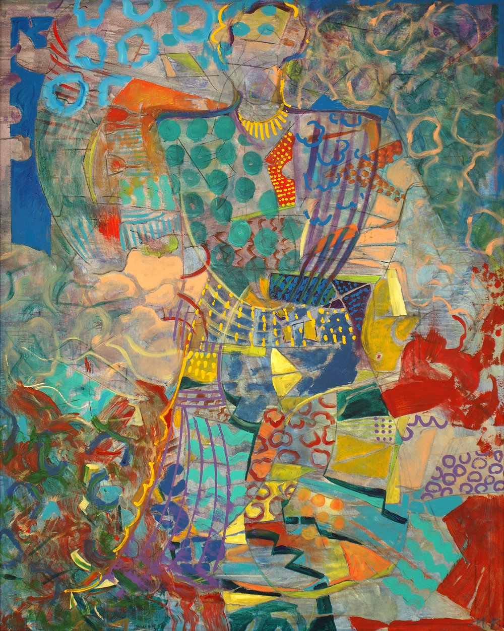 Princely Fantasy (Haiku Series), 2005, 62 x 77.5 inches, Acrylic on canvas