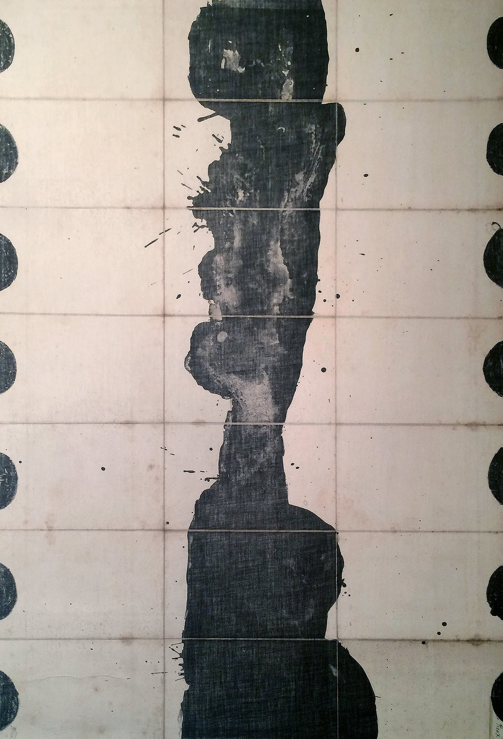Black Blood I (ed. 16 of 19), 1989, 23.5 x 34.5 inches, Lithograph on canvas